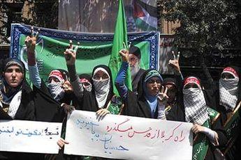 خیابان های تهران مملو از جمعیت راهپیمایان