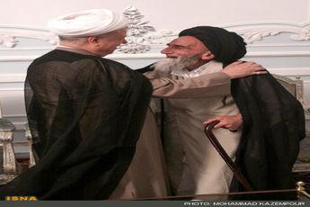 دیدار آیت الله شیرازی با آیت الله هاشمی رفسنجانی - مشهد