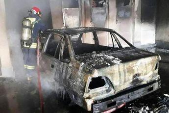 مردی بعد از آتش زدن همسرش به زندگی خود پایان داد