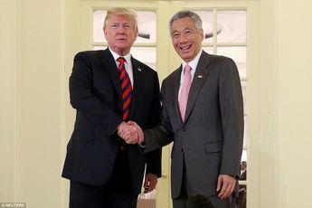 دیدار ترامپ با نخست وزیر سنگاپور