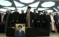رهبر انقلاب بر پیکر آیت الله هاشمیشاهرودی نماز اقامه کردند