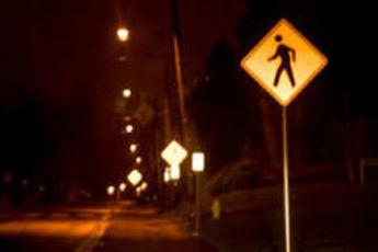 تشخیص عابر پیاده در شب