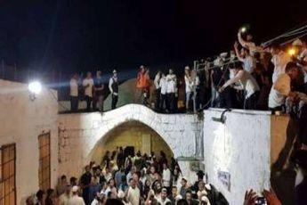 صدها صهیونیست به مقام حضرت یوسف (ع) در نابلس، یورش بردند