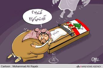 کاریکاتور / مرگ جعبه سیاه عربستان در لبنان!