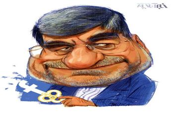 کاریکاتور / وزیر ارشاد و کلید فیس بوک!