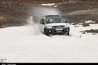 رشت| بارش برف مناطقی از رودبار استان گیلان را سفیدپوش کرد