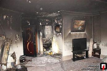 نجات 13 مرد و زن محبوس شده میان دود و آتش