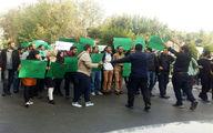 تجمع دانشجویان در دانشگاه تهران علیه روحانی