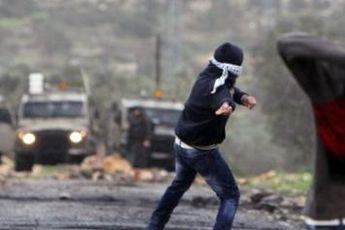 یورش صهیونیست ها به تظاهرات در رام الله